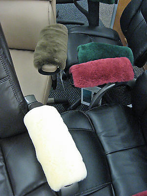 White Merino Sheepskin Armrest Covers Pad Scooters Wheelchairs Office Chair Arms