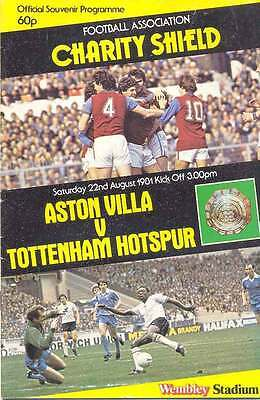 ASTON VILLA v TOTTENHAM HOTSPUR 1981 CHARITY SHIELD FOOTBALL PROGRAMME