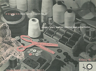 Ferris Woolen Company Catalog Sewing Threads Buttons Zippers 1954