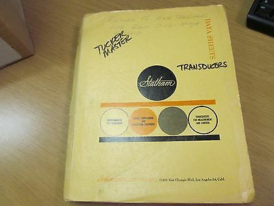 Statham Instruments Multiple Models Specification Sheets & Price List (11/20/62)