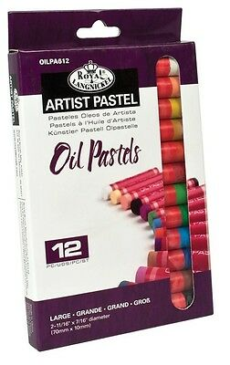 12 Large Size Oil Pastels Colour Pigment Artist Drawing & Sketching Set Oilpa612