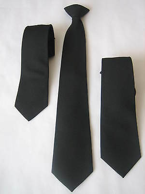 Wholesale Lot 10 Pcs Black Clip On Ties Security, Funeral, Bouncers, Workwear