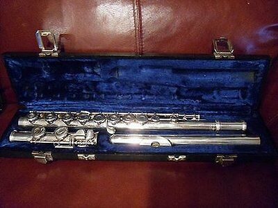 Vintage ARMSTRONG 80R STERLING SILVER FLUTE + 5 Solid Sterling Silver Plugs &