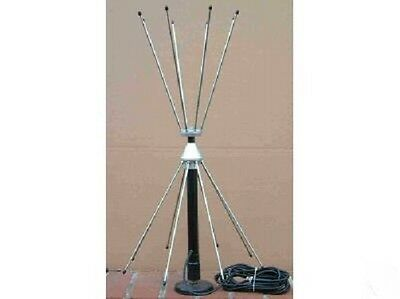 Double Discone Desktop Radio Scanner Antenna with RG58 Coax + BNC Plug