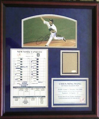 Chien-Ming Wang New York Yankees Signed 2006 ALDS Dirt Collage