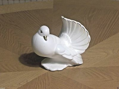 """White Dove With Gold Accent Ceramic  Approx 3/3/4"""""""