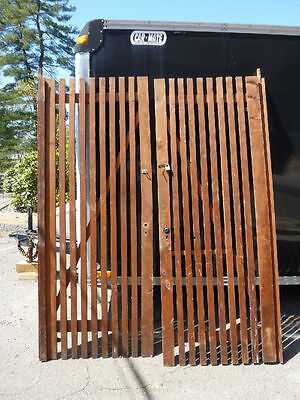 PR victorian ATTIC slatted DOORS great for restoration or ART project 87 x 33.5""