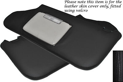 Black Stitch Fits Chrysler 300C 2006-2010 2X Sun Visors Leather Covers