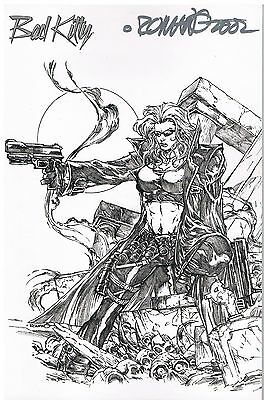 Bad Kitty Reloaded Nr.4 2002 Comic Watch Sketch Variant Cover Signiert v. Romano