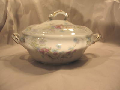 Tureen Covered Serving Bowl CA France Porcelain French