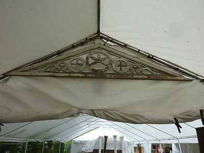 "FANCY c1880 VICTORIAN gingerbread GABLE pediment scroll work 123"" x 27"" x 1.75"""