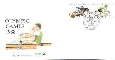 1988 Olympic Games Seoul FDC Issued in Dublin on 7 June 1988