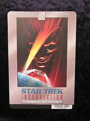 STAR TREK INSURRECTION  movie backer card (this is not a dvd)