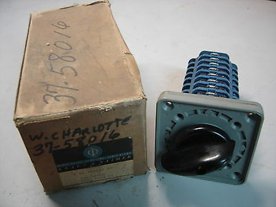 Kraus & Naimer A-14-2Aa632-Eg Blue Line Rotary Switch 2 Position Maintained Nib