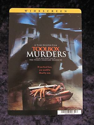 TOOLBOX MURDER movie backer card TOBE HOOPER (this is not a dvd)