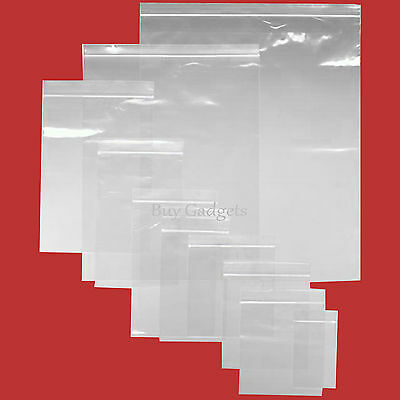 Grip Seal Bags Self Resealable Mini Poly Plastic Clear Zip Lock Bags *all Sizes*