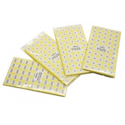 500 Pack One Size Choice Only Adhesive Size Labels - Supplied on sheets
