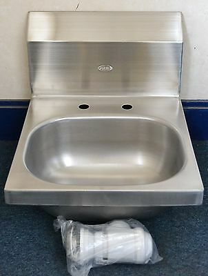 MAD SALE Wall Mounted Stainless Steel HAND WASH SINK BASIN with WASTE