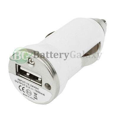 20 USB White Travel Car Charger Adapter Power Outlet Plug for Android Cell Phone