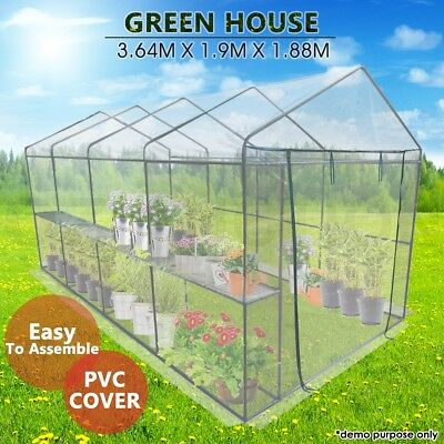 Garden Greenhouse Large Walk-In Green Hot House PVC Cover