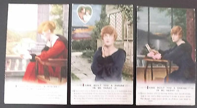 """3 ww1 postcards bamforth & co songs """" i have built you a shrine in my heart"""""""