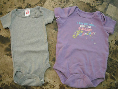 2 baby girls 1 PIECE OUTFITS euc! CARTERS fancy gray FABULOUS newborn 0-3 months