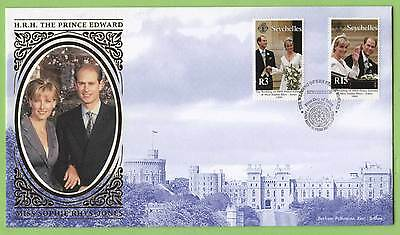 Seychelles 1999 Royal Wedding set on silk First Day Cover