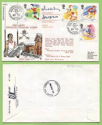 G.B. 1988 Welsh Bible set on official RAFDC flown & signed First Day Cover