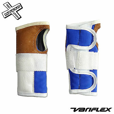 Variflex Wrist Guards Xs Nos Old School Vintage Skate Board Retro Blue White