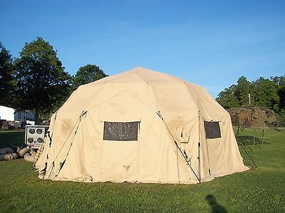 """MILITARY  TENT  BASE- X  6D31   TAN """"EASY UP""""  31'x31'  SURPLUS  ARMY CAMPING US"""