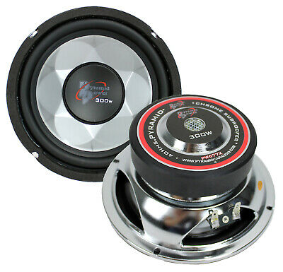 """2) New PYRAMID PW677X 600W 6"""" Car Audio Subs/Subwoofers Power Woofers 6.5"""""""