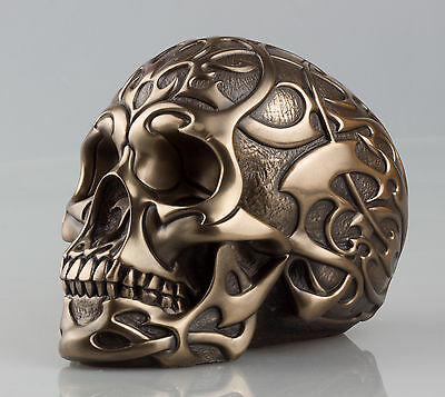STUNNING Bronze TRIBAL SKULL Statue Sculpture Ornament by Design Clinic NEW IN