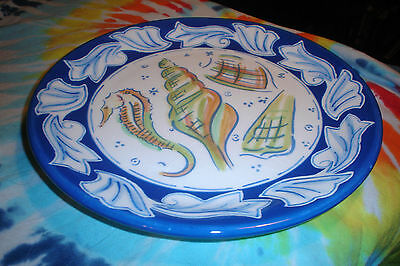 Hand Painted Strata Group Dinner Plate (Coquille) Made In Philippines