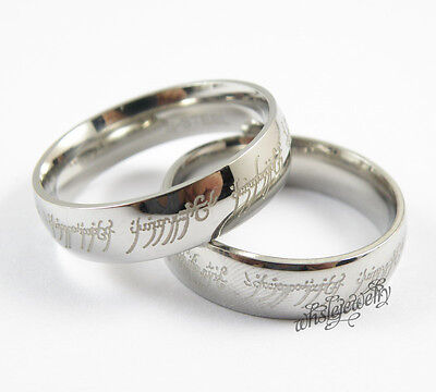 Wholesale 12pcs 316L Stainless Steel Smooth Wedding Band Lord of the Rings
