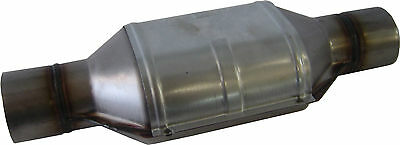 "Catalytic Converter CERAMIC core UNIVERSAL, 2 1/2"" 400 cell Stainless Steel, NEW"