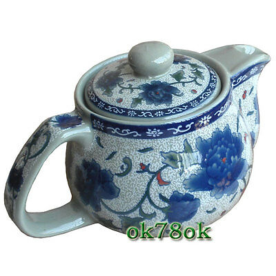 Blue Peony Ceramic Teapot with Infuser Chinese kung fu Tea Pot *ON SALE*