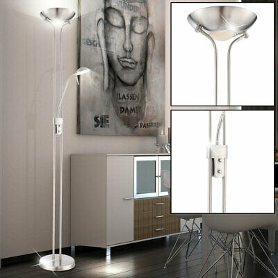 stehlampe mit 2 lampen stand leuchte led stehleuchte stand design lampe fluter eur 74 90. Black Bedroom Furniture Sets. Home Design Ideas