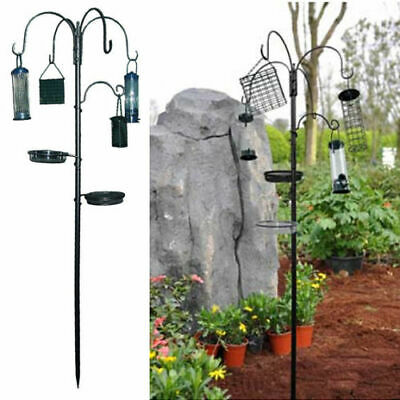Bird Feeding Station With Hanging Feeders Garden Water Bath Table Seed Tray Wild