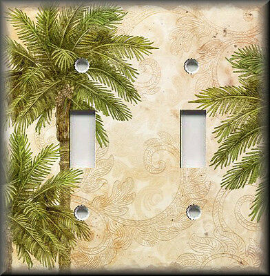 Metal Light Switch Plate Cover - Tropical Palm Trees - Coastal Home Decor Beach