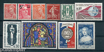 FRANCE - LOT G timbres années '30/'60, neufs** LUXE