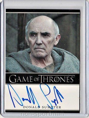 Game Of Thrones Season 2 Donald Sumpter Autograph