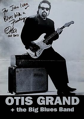 Otis Grand signed 12x16 poster / autograph rare Blues Perfume and Grime