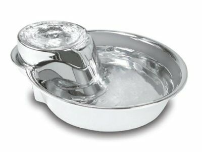 Pioneer Pet Fountain Big Max- Stainless Steel Dog & Cat Drink Raindrop Water