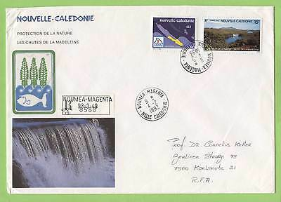 New Caledonia 1993 45f & 15f on registered cover