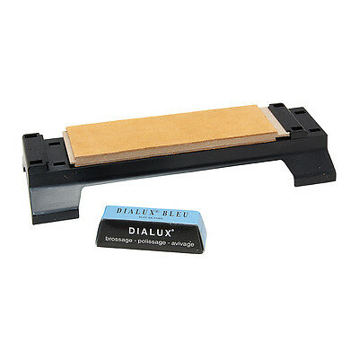 Leather Sharpening Strop Kit + Base - For Knives & Chisels