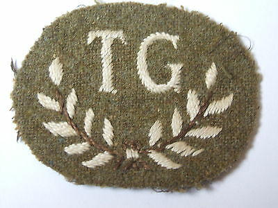 vintage tank gunner trained specialist TG  trade cloth patch