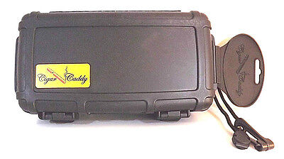 THE CIGAR CADDY TRAVEL HUMIDOR WEATHER PROOF 10 CIGAR W/ HUMIDIFIER FREE S/H