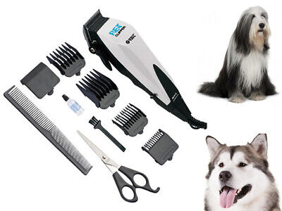 10Pc Professional Pet Cat Dog Clippers Easy Cut Grooming Animal Kit Hair Trimmer