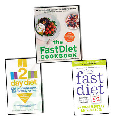 Fast Diet 3 Books Collection Set By Michael Mosley Mimi Spencer,The Fast Diet PB