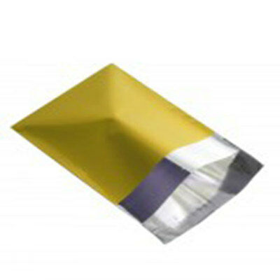 "10 Metallic Yellow 6.5""x9"" Foil Mailing Postage Postal Bags"